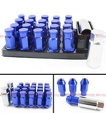 FOR ACURA INTEGRA TSX RSX TL BLUE CLOSE END WHEEL RIM LUG NUTS + KEY+ LOCK KIT
