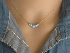 Opal necklace, opal ball necklace, opal gold necklace,fire opal, blue opal,dot
