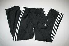 Adidas Wind Rain Track Pants Lined Youth M 10 12 Black NEW