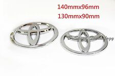 Silver Chrome Front and Rear Car Badge Emblems for Toyota Camry 09-13