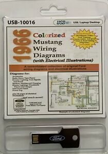1966 Colorized Ford Mustang Wiring Diagrams (USB)