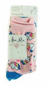 Alexa Rose Mommy & Me Socks Toddler & Girl Sizes Unicorns