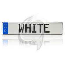 1x Weiß Kennzeichenhalter Hyundai i20+i30+i40+Pony+ix35+S-Coupé+Tiburon Tuning