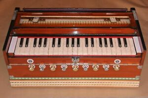 INDIA POPULAR HARMONIUM 9 STOPER DESIGN BY M.J