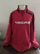 San Francisco 49ers on-Field 1/4 Zip Pullover Jacket Reebok Size 3XL