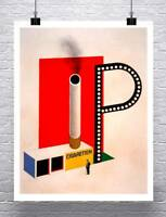 Cigaretten 1924 Vintage Bauhaus Poster Rolled Canvas Giclee Print 24x30 in.