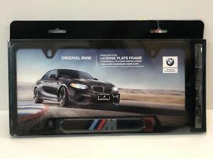 BMW M Logo License Plate Frame OEM  ~ Black ~
