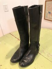 Anne Klein Ciji Black Leather Flex Boots Size 6.5M