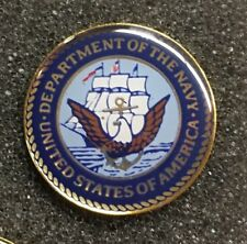 DEPARTMENT OF THE NAVY USA LAPEL PIN US MILITARY MADE IN AMERICA