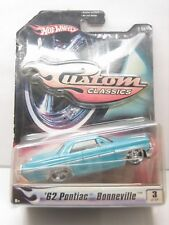 Diecast Hot Wheels '62 Pontiac Bonneville Custom Classic 1:50 MInt on Blister