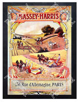 Historic Massey-Harris French 1900s Advertising Postcard
