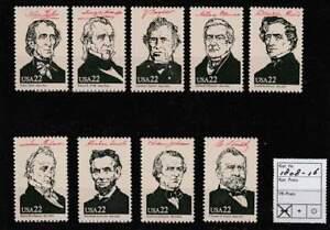 America / USA postfris 1986 MNH 1808-1816 - Presidents of the United States