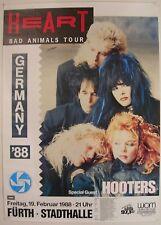 HEART CONCERT TOUR POSTER 1988 BAD ANIMALS ANN NANCY WILSON