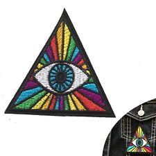 Illuminati iron on patch - rainbow triangle love eye iron-on embroidery patches
