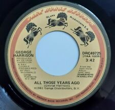 George Harrison All Those Years Ago / Writing's On The Wall 45 - 1981 Dark Horse