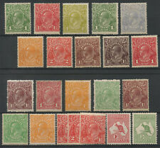 AUSTRALIA 1920-30 MINT HEADS + ROOS MINT ISSUES 22 Stamps