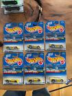 Lot of 6 1998 Hot Wheels # 739 Flyin' Aces Sol-Aire CX4 Yellow 5 Spoke Sealed L6