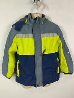 BOYS MINI BODEN BLUE WINTER CASUAL PADDED HOOD RAINCOAT JACKET KIDS AGE 5/6 YRS