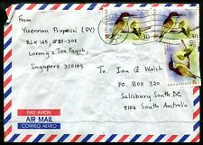Singapore commercial Airmail cover Australia dated 28JUL07