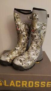 "Lacrosse 18"" Alphaburly Pro 800G Gore Optifade Elevated II Boots Men's Size 12"
