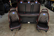 VW T4 T5 Vivaro Traffic Swivel Seats with Full Width Manual Rock and Roll Bed