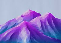 A1 | Ombre Mountains Poster Print 60 x 90cm 180gsm Digital Art Wall Decor #14495