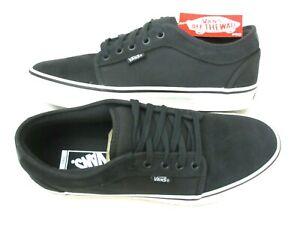 Vans Mens Chukka Low Pro Raven Black Marshmallow Canvas Suede shoes Size 9.5 NWT