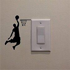 Basketball Player Cartoon Vinyl Switch Sticker Decor Lightswitch Decor Wall