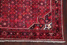 7x10 Vintage Hamadan Geometric Oriental Area Rug Hand-Knotted Living Room Carpet