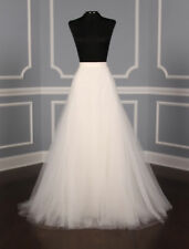 AUTHENTIC Monique Lhuillier Heaven Silk Tulle Bridal Skirt 10 RETURN POLICY