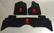 Autoteppich Fußmatten für Dodge RAM SRT 10 Punisher 02'-09' rot 3tlg. Velours