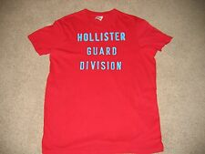 MENS HOLLISTER SHORT SLEEVE T-SHIRT IN RED IN SIZE (XL)