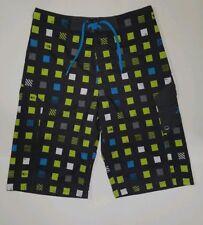 North Face Boardshorts Swimsuit Boys 20 Mens 30 Swim Trunks Gray Check