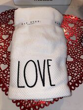 Rae Dunn Valentine's Day Hand Towels- Set of 2- Heart/Love