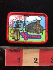 Colorful Klubmates PIONEER SPIRIT Patch - Log Cabin 77WI