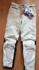 Señoras Pantalones de cuero moto Dainese Yamaha Jeans para Mujer 50 32 34 RRP £ 225