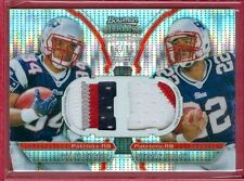 2011 BOWMAN STERLING Shane Vereen/Stevan Ridley SP PATCH PULSAR RC CARD #d 04/15