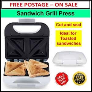 Sandwich Jaffle Maker Press Cut Seal Toasted Non Stick 2 Slice Breakfast Meals