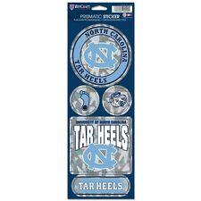North Carolina Tar Heels Prismatic Decal Sticker Set