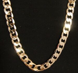 Real 24K Gold Layered 10 MM Cuban Link Men's Chain Necklace W/ Free Guarantee