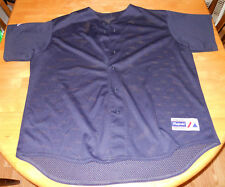 navy mesh baseball jersey adult 2XL 50-53 Athletic Apparel majestic trailblazer
