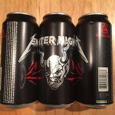 Metallica Enter Night Pilsner 16 ounce Beer Cans 3 Three EMPTY