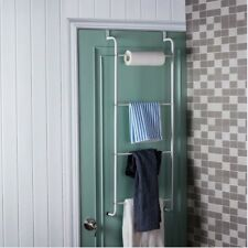 Over Door Towel Rack Storage Bar Bathroom Rail Holder Hanger Bath Wall Ladder