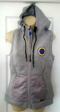 St Louis Blues Women Hoodie Vest Size Small Heather Gray Scuba Thermal Cell New