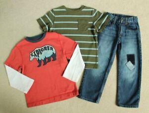 Boys Gymboree Camp Yosemite Bear Shirt Knee Patch Jeans 4 4T