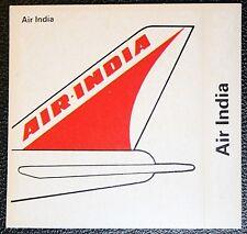 AIR INDIA     Tail Fin Colours  Sticker Card