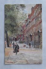 c1910 Colour Postcard. King's Bench Walk (Temple, London). Charles E. Flower