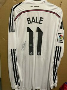 Signed Gareth Bale Real Madrid shirt with Coa