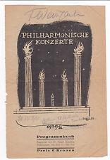 1921 FELIX WEINGARTNER - SIGNED Program Cover - Austrian Composer & Conductor