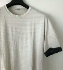 STONE ISLAND WHITE STRIPED CREW NECK T SHIRT XXL / 2XL casuals vintage
